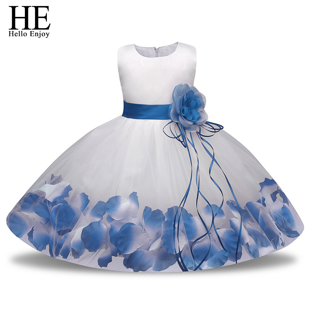 HE Hello Enjoy Tutu Flower Baby Dress For Wedding Party Sleeveless Infant Petal Dresses For 1st birthday dress Baptism Clothes