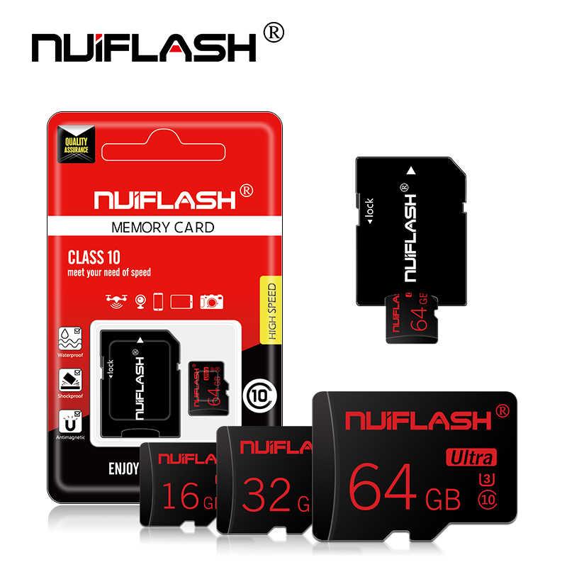 Nuiflash carte mémoire Micro SD carte classe 10 TF carte Microsd 64GB 32GB 16GB 128GB 256GB stylo lecteur Flash disque mémoire pour téléphone