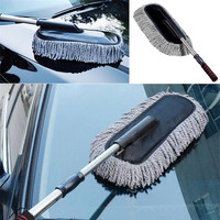 Multi Functional Microfiber Car Dust Cleaning Brush Duster Mop Auto Duster Washer Tool Wax Brush Supplies