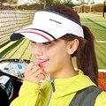Женщины Летнее Солнце Козырек Мужчины Крышка Солнца УФ-Защитой Гольф Hat края Quick Dry Теннисные Шапки Туризм Путешествия Рыбалка Snapback Бейсболка