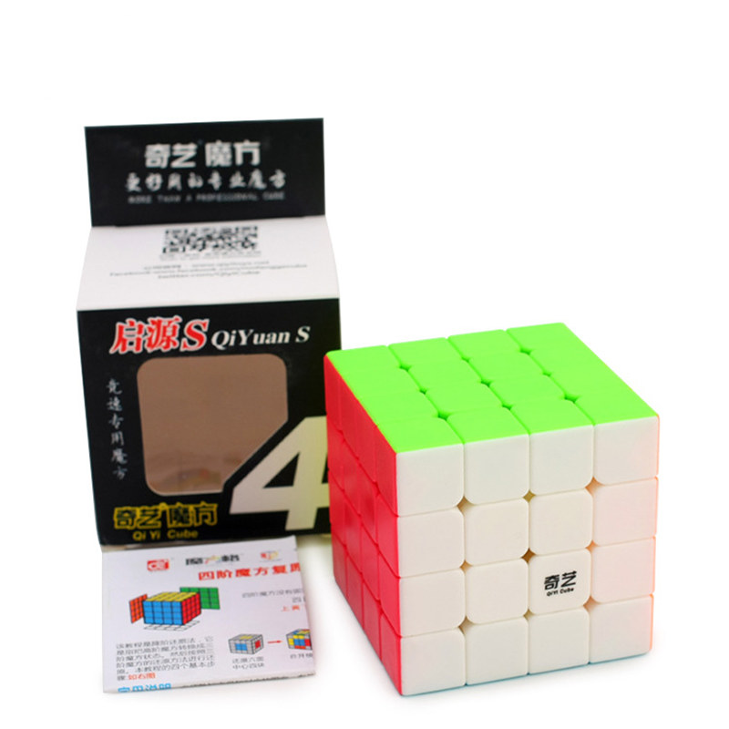 <font><b>QiYi</b></font> Yuan <font><b>S</b></font> <font><b>4x4</b></font> Magic Cube Puzzle Speed Cubes 4x4x4 Professional Speed stickeless Cubo Magico Educational Toy For Children Cube image