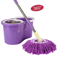 360 Rotating Head Easy Magic Microfiber Replacable Mop Floor Household Accessories Cleaning Tool