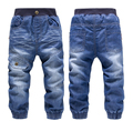 Boys jeans kids jeans baby jeans  2016  kids Fashion denim  casual pants elastic waist boys winter jeans child clothing