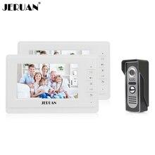 JERUAN 7 дюймов TFT видео-телефон двери домофон дверной звонок 2 Белый монитор + HD ИК Ночного видения Камеры БЕСПЛАТНАЯ ДОСТАВКА ДОСТАВКА
