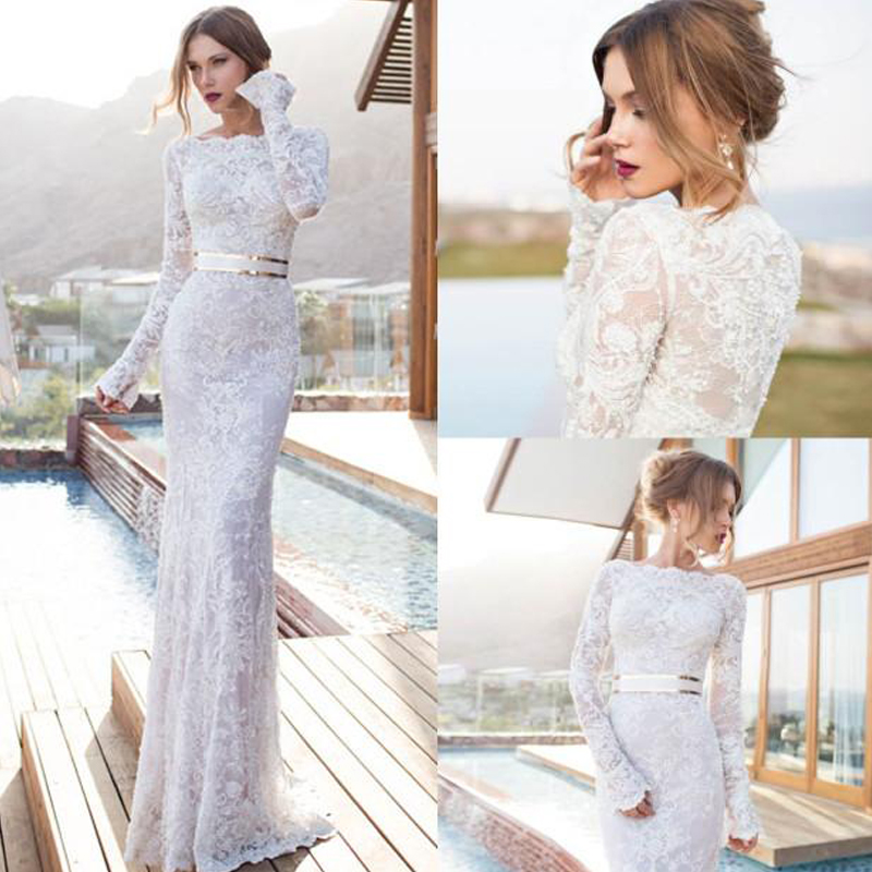 Berta Bridal Beach Wedding Dresses 2017 Unique Lace Long