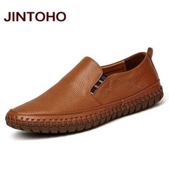 Jintoho ανδρικά παπούτσια δερμάτινα ελαφριά ιταλικού σχεδίου