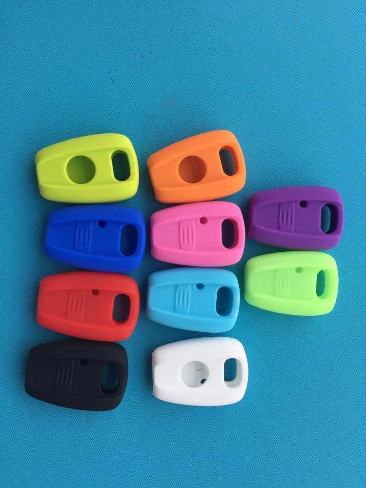 1 قطعة غطاء من السيليكون الجديد غطاء مفتاح السيارة لشركة فيات بونتو Doblo برافو فوب شل الجلد سترة تصفيف السيارة 1 زر مفتاح بعيد فارغة