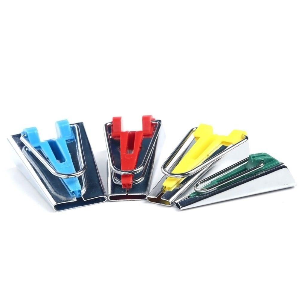 4pc Parça Bias Tape Maker Bağlama Aləti Dördlü Dikiş 6mm 12mm - İncəsənət, sənətkarlıq və tikiş - Fotoqrafiya 2