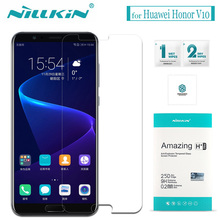 Nilkin for Huawei Honor V10 Tempered Glass Nillkin Amazing H+Pro 0.2mm Clear Glass Screen Protector Film for Huawei Honor V10