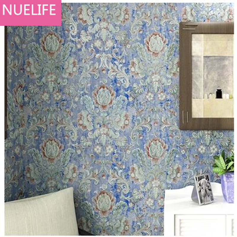 0.53x10m Retro large flower European pastoral non - woven wallpaper study room living room bedroom restaurant bedside  wallpaper0.53x10m Retro large flower European pastoral non - woven wallpaper study room living room bedroom restaurant bedside  wallpaper