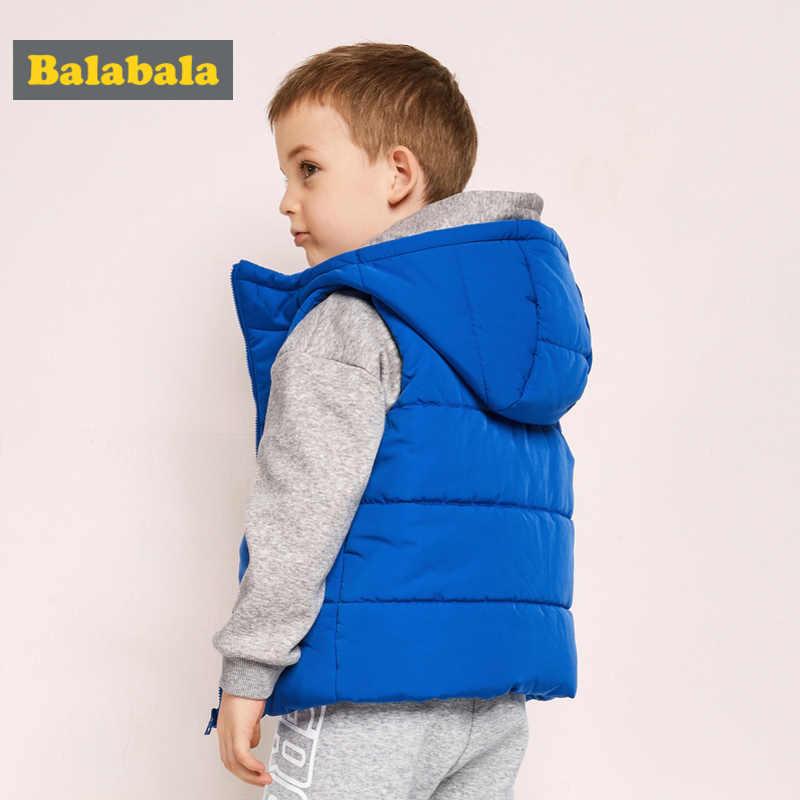 Balabala ילד פעוט צמר מרופד סלעית במקומות Vest עבור חורף ילדי ילד במקומות Vest עם כיס רוכסן