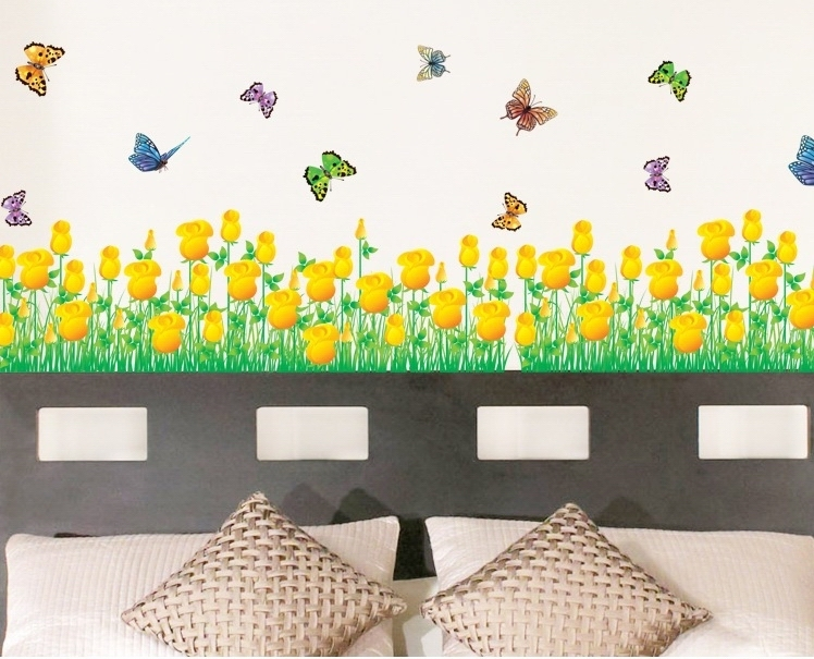 tulip border wall stickers - photo #9