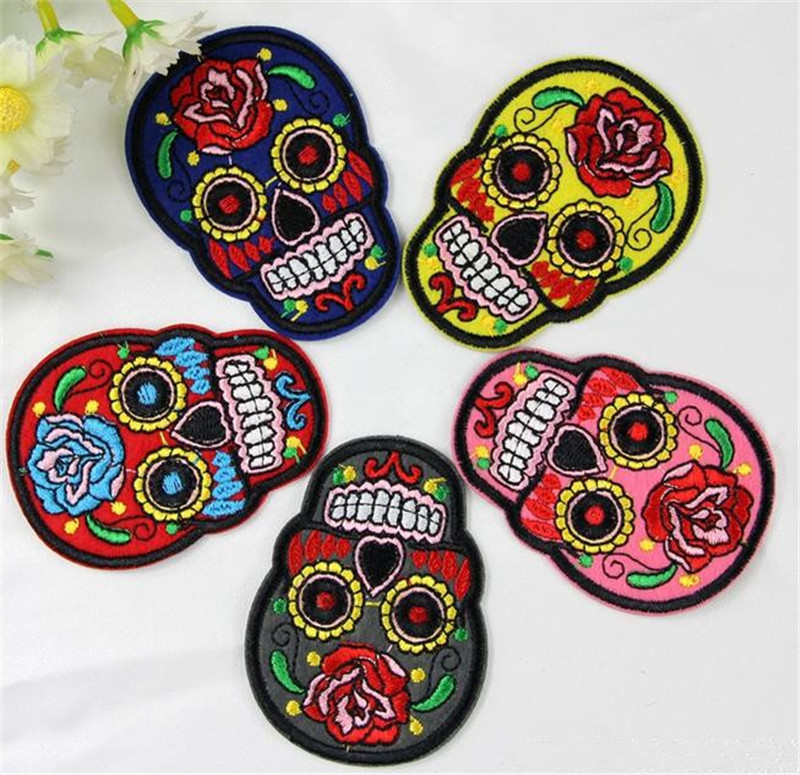 Popular skull embroidery designs buy cheap