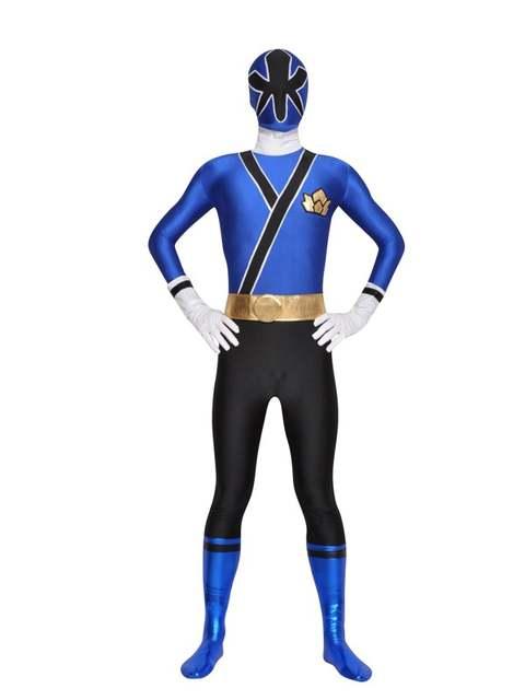 Samurai Sentai Shinkenger Costumes Lycra Spandex Zentai Samurai Rangers  Cosplay Halloween Red/Pink/Blue/Green/Yellow Ranger Suit
