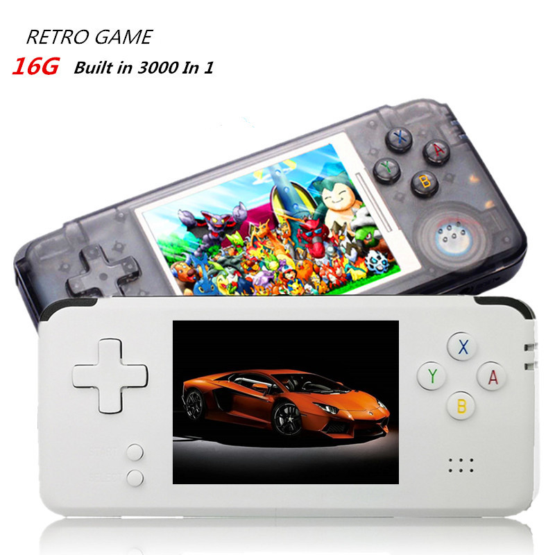 US $48 13 17% OFF|POWKIDYY Retro Handheld Game Console 16G ROM Built in  3000+ Different Games Support For NEOGEO/GBC/FC/CP1/CP2/GB/GBA-in Handheld