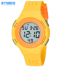 2016 colorful SYNOKE Men Women Sports Watches Military Watch LED Digital Multifunctional Wristwatches 50m Waterproof Children