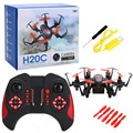 JJRC H20C Mini Nano Drone 2.4G 4Channel 6Axis Gyro RC Hexacopter Micro Protable Helicopter 2MP Camera Lights Eversion Red RTF