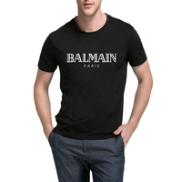 Balmain Paris T Shirt Men Fashion Letter T Shirt Cotton Short Sleeve Shirts For Men Summer