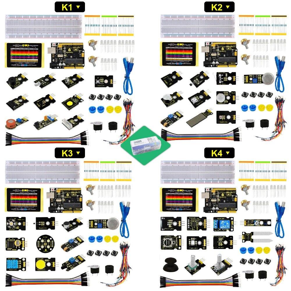 Keyestudio Sensor Starter Kit- K1-K2-K3 -K4 For Arduino Education Learning DIY Programming Keyestudio Sensor Starter Kit- K1-K2-K3 -K4 For Arduino Education Learning DIY Programming