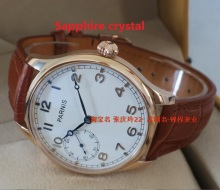 Sapphire crystal PARNIS watch the seagulls ST3600 6497 gooseneck core rose gold watchcase onion manual mechanical