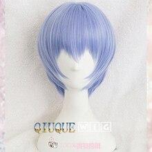 Эва Аянами Рей парик короткий светильник синий термостойкие синтетические волосы Perucas Косплей парик+ парик крышка
