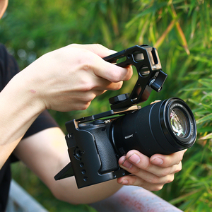 Image 4 - UURig R008 Camera Top Handle Hand Grip Handgrip Arri Locating Screw Monitor Mic Rig Cold Shoe for Nikon Canon Sony DSLR Camera