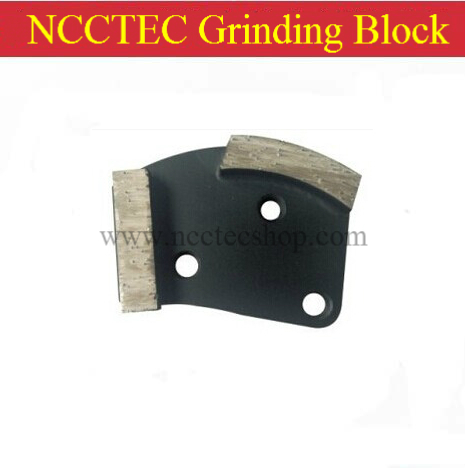 NCCTEC Grinding Blocks with 2 diamond Segments FREE shipping | metal bond concrete grinding pads shoes tools metal bond 10pcs 3 diamond grinding cup