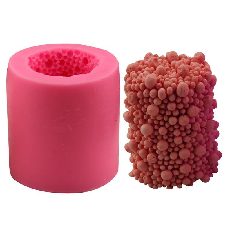 cilindro de la perla forma del molde de silicona jabn hecho a mano molde de la vela pastel de fondant de chocolate del molde pa
