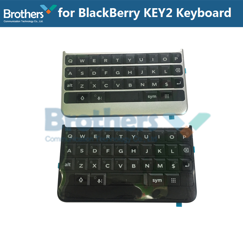 US $14 99 19% OFF|Keypad for BlackBerry Keytwo Key2 Keyboard Button With  Flex Cable for BlackBerry Key2 Phone Replacement Parts Black Silver AAA-in
