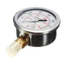 High Quality Hydraulic Liquid Filled Pressure Gauge 0-3500 PSI New Arrival