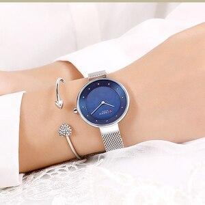 Image 5 - Creative Dialนาฬิกาผู้หญิงนาฬิกาควอตซ์CURRENเหล็กตาข่ายนาฬิกาข้อมือสุภาพสตรีสร้อยข้อมือนาฬิกาผู้หญิงBayan Kol Saati