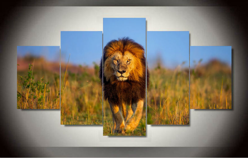Framed Printed Lion Painting on canvas room decoration print poster picture canvas Free shipping GA952