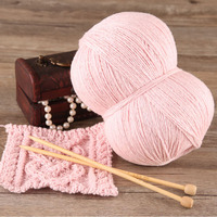 250g Lot High Quality Silk Cashmere Hand Kintting Yarn Warm Soft Eco Friendly Wool Thread Garn