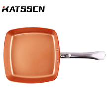 Kitchen Cookware Sets With Stainless steel Handle Frying Pan High-quality Non-stick Copper Square Chef 259