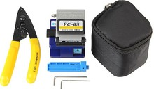 Fiber Optic Tool 3 in 1 FTTH Splice fiber optic tool kits Fibre stripping and FC-6S cleaver