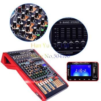 8-channel professional mixer Glenton 24 kinds of digital reverb effect mixer Bluetooth USB48V phantom