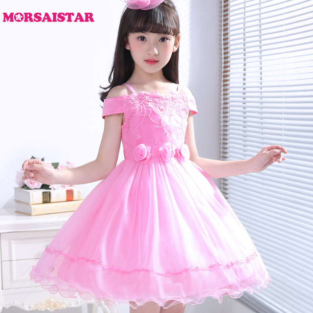 girls summer floral dress princess girls dresses for party and ...