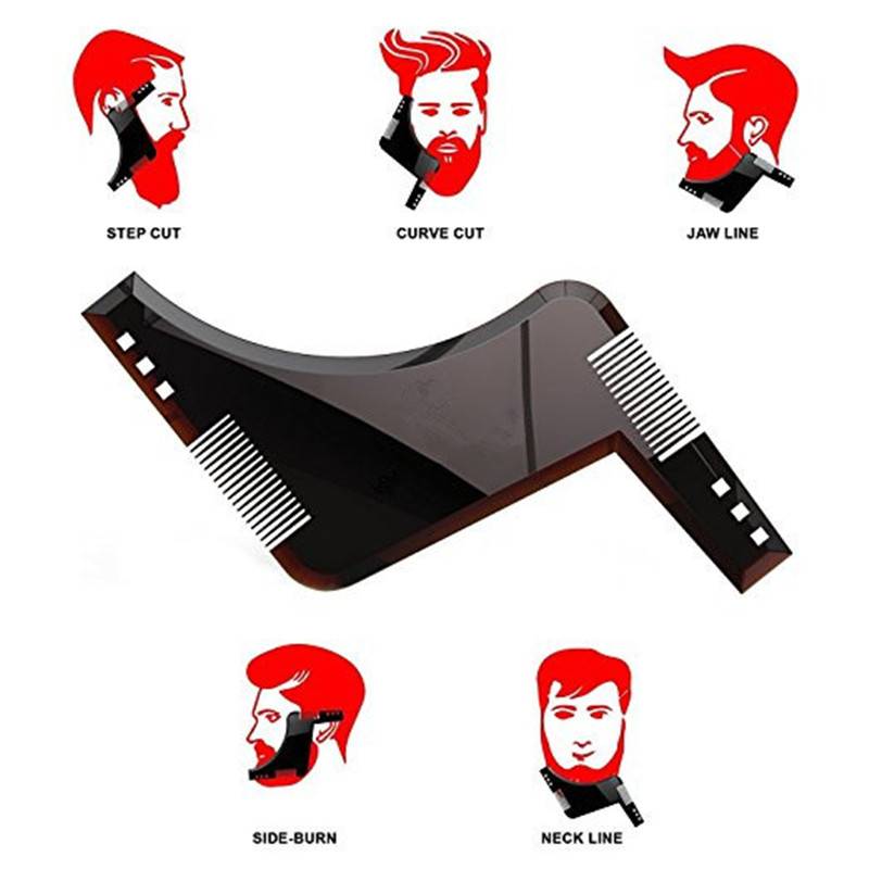 Beard Shaping and Styling Template