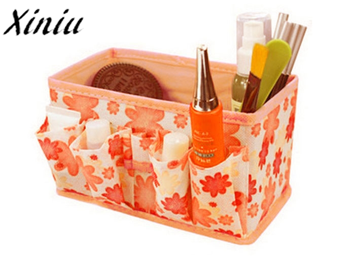 Pochette Make Up Bag Floral Printing Cosmetic Storage Bag Bright Organiser Foldable Stationary Container Bayan Canta #7103