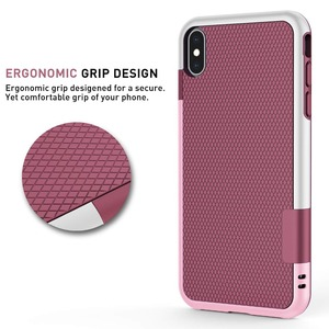 Hybrid Shockproof Silicon Armor Case for iPhone XS MAX XR 10 Anti Slip Grip Cover for iPhone 8 7 6s Plus 6Plus 7Plus 8Plus funda(China)