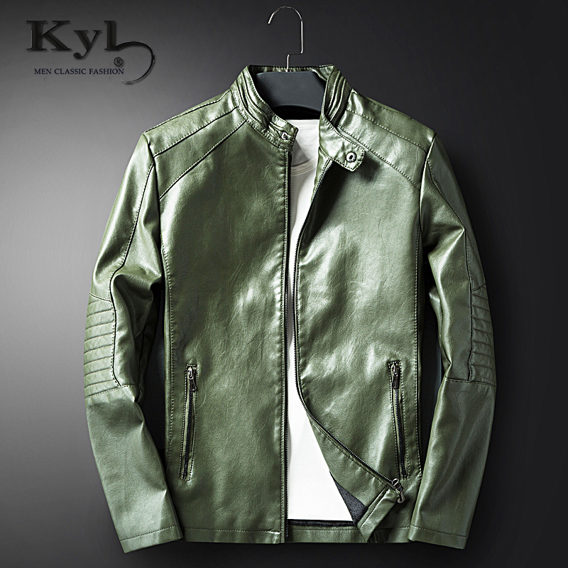 New Fashion PU Leather Jacket Men Black Brown Solid 2017 Mens Faux Fur Coats Trend Slim Fit Youth Motorcycle Suede Jacket Male