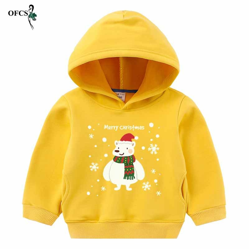 Boys Hoodies Girs Clothes Children Winter Thick Sweatshirts Toddler Casual Sweater Kids Plus Velvet Tops Costume Christmas Gifts