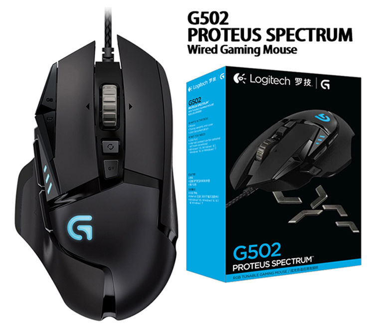US $20 55 27% OFF|Logitech 100% original Mouse  G403/G502/MX518/G402/G302/G102/G300s wired Gaming Mouse Support Desktop/  Laptop Windows 10/8/7-in Mice
