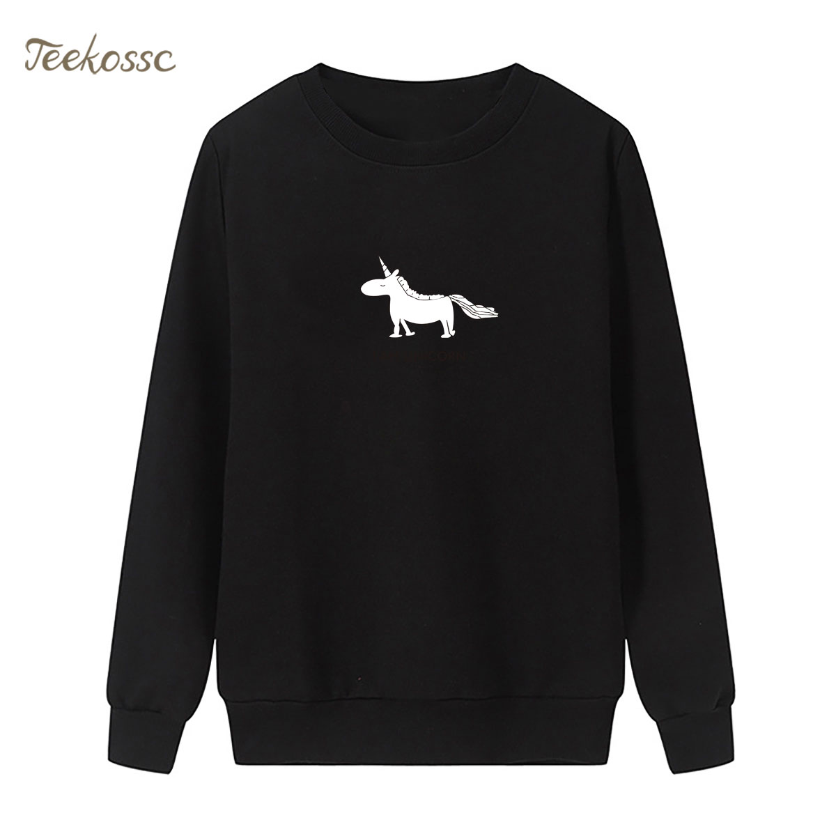 Little White Horse Sweatshirt Print Hoodie 2018 Winter Autumn Women Lasdies Pullover Loose Fleece Streetwear Cute Brand Clothing