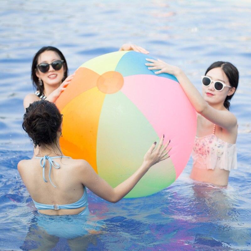 슈퍼 큰 80cm PVC 풍선 볼 아이 아이 에어 비치 볼 - 수상 스포츠 - 사진 2