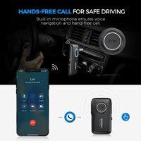 יד מתאם החדש MPOW Bluetooth5.0 מקלט אלחוטי עם CSR Core Audio מתאם באמצעות שיחות יד-חופשית לרכב אור LED ניווט קולי (5)