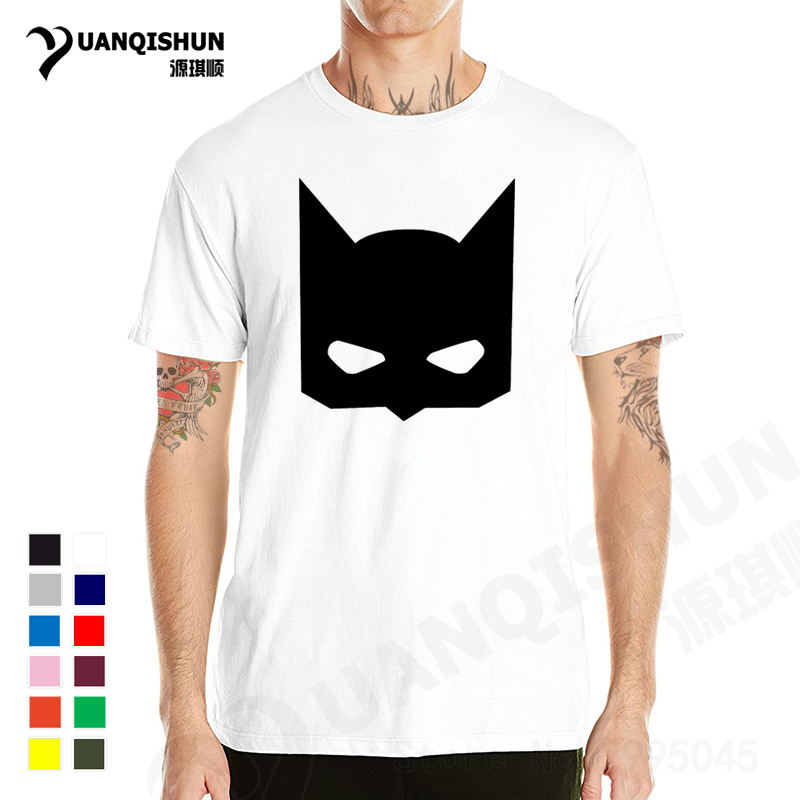 YUANQISHUN 100% COTTON Men T Shirt Batman T Shirts Fashion Personalized  Custom Tshirts Batmen Funny Top Tee Superhero Cool Shirt