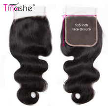 Tinashe Saç 5x5 Dantel Kapatma Remy Insan Saçı Ücretsiz/Orta/Üç Bölüm Brezilyalı Vücut Dalga Saç isviçre Dantel Kapatma