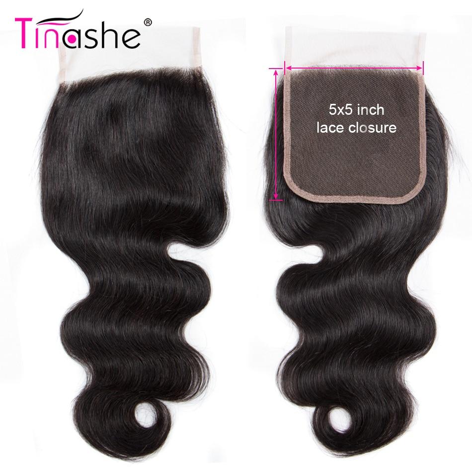 Волосы Tinashe 5x5 с кружевной застежкой, человеческие волосы без повреждений/Средние/три части, бразильские волнистые волосы, швейцарские круж...