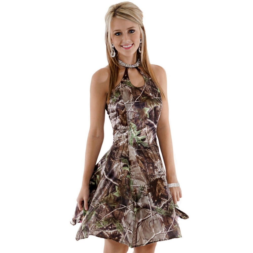 camouflage sweet sixteen short cocktail party camo prom dresses 2018 ...